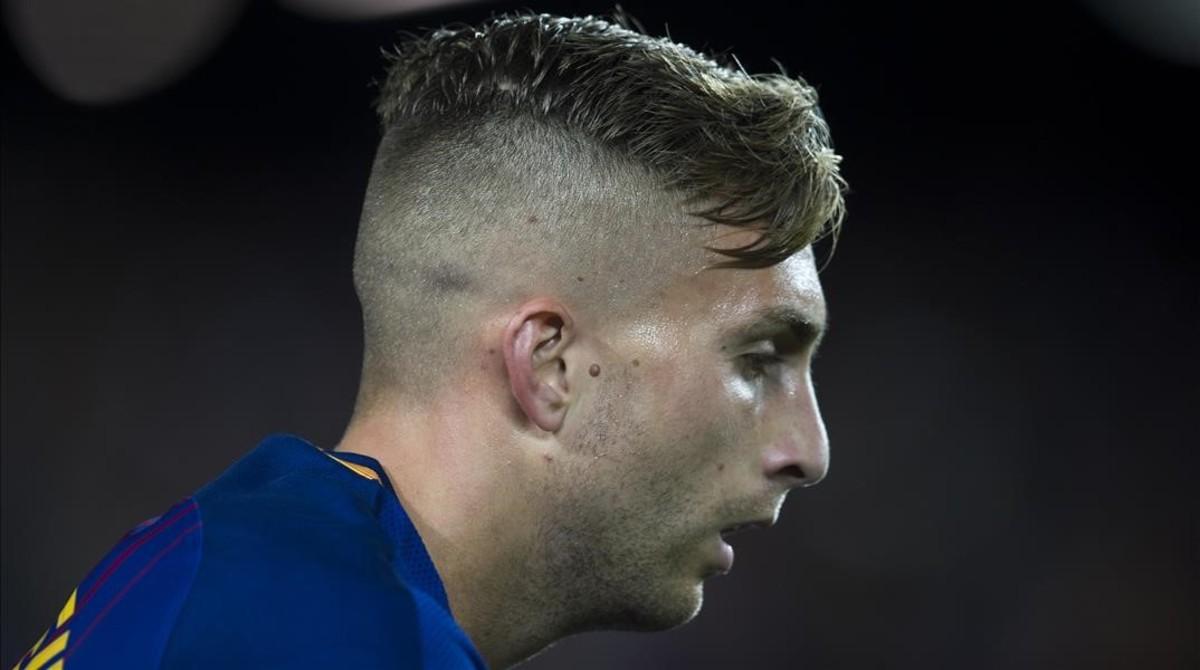 Deulofeu, en el partido ante el Eibar en el Camp Nou.