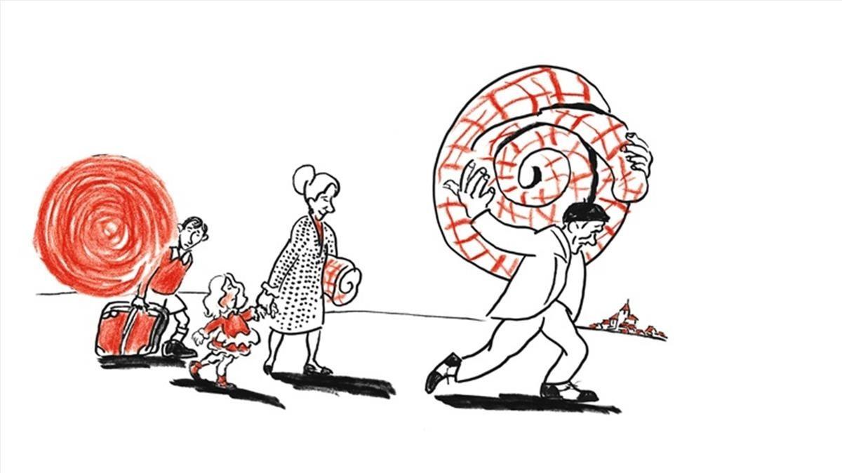 Dibujo de Alfredo, Premio Nacional de Ilustración 2017, expuesto en la muestra que le dedicó el Museo Abc de Madrid.
