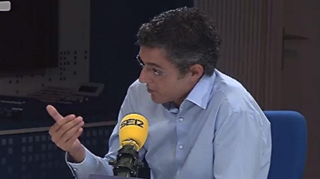 Eduardo Madina durante la entrevista en cadena SER.