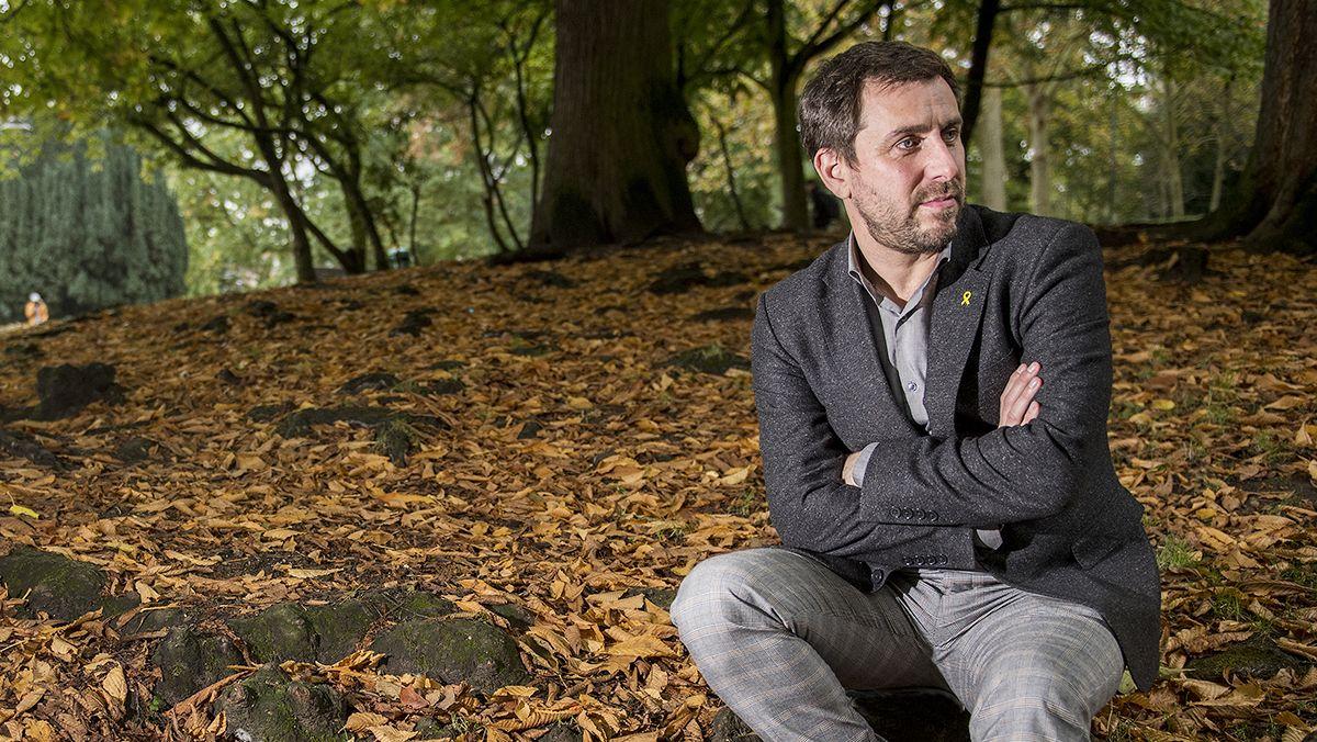 Toni Comín, 'exconseller' del Govern de la Generalitat, entrevistado en su residencia de Lovaina (Bélgica)