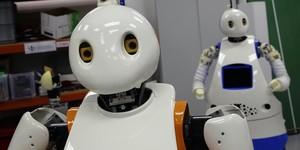 Prototipos de robots en el Institut de Robòtica.