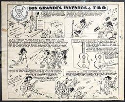 Una de las piezas de Los dibujantes del TBO, exposición que tiene lugar en La Llama.