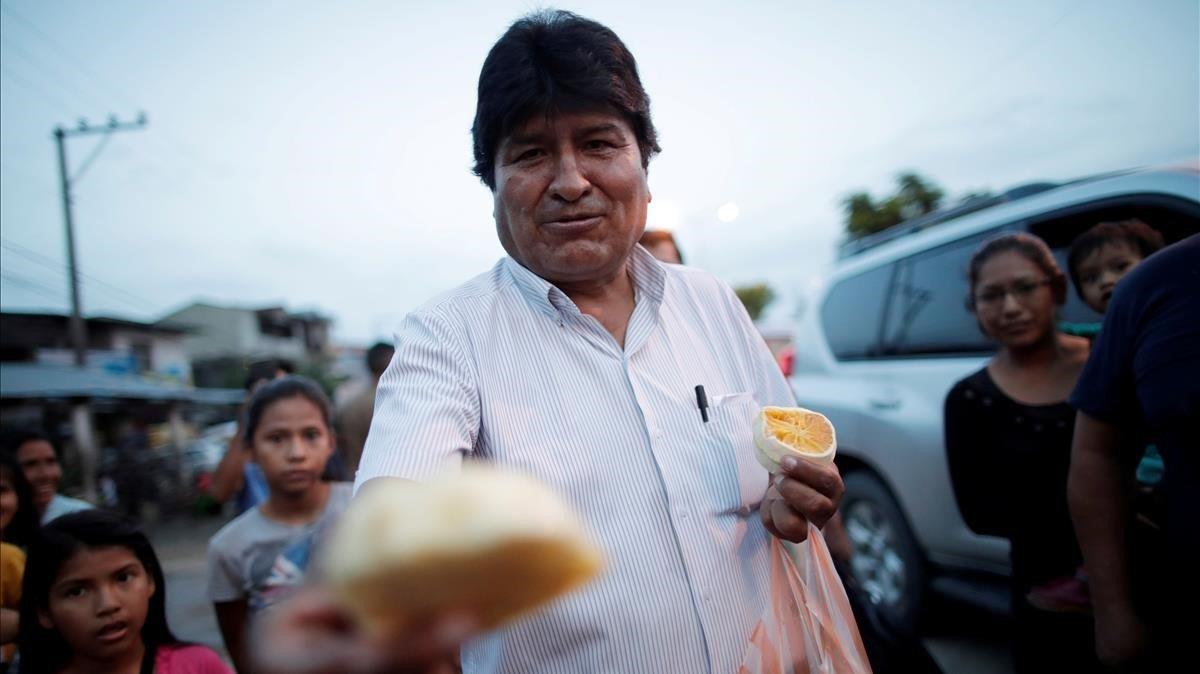 El expresidente de Bolivia, Evo Morales, en una imagen del pasado 19 de octubre.