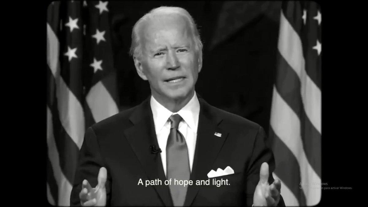 Un fotograma de la canción dedicada a Joe Biden.