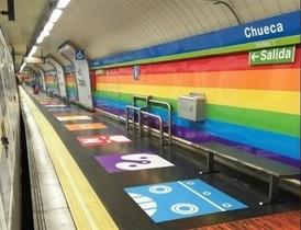 La estación de Chueca, en Madrid.