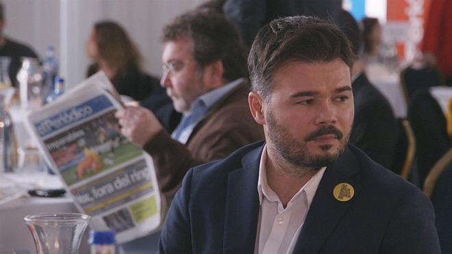 Gabriel Rufián asiste a Primera Plan@: El PSOE no hace, al PSOE se le obliga a hacer.