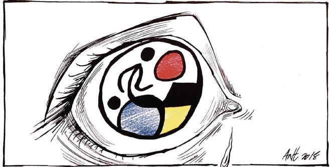 L'humor gràfic d'Anthony Garner del 17 d'Agost del 2018