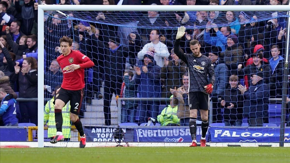 De Gea se disculpa por el error cometido ante el Everton.