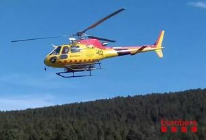 Helicóptero de rescate de Bombers.
