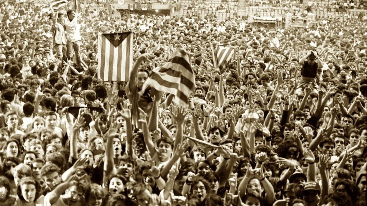 El histórico concierto de rock català en el Sant Jordi de 1991