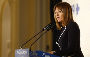La secretaria general de los socialistas vascos Idoia Mendia.