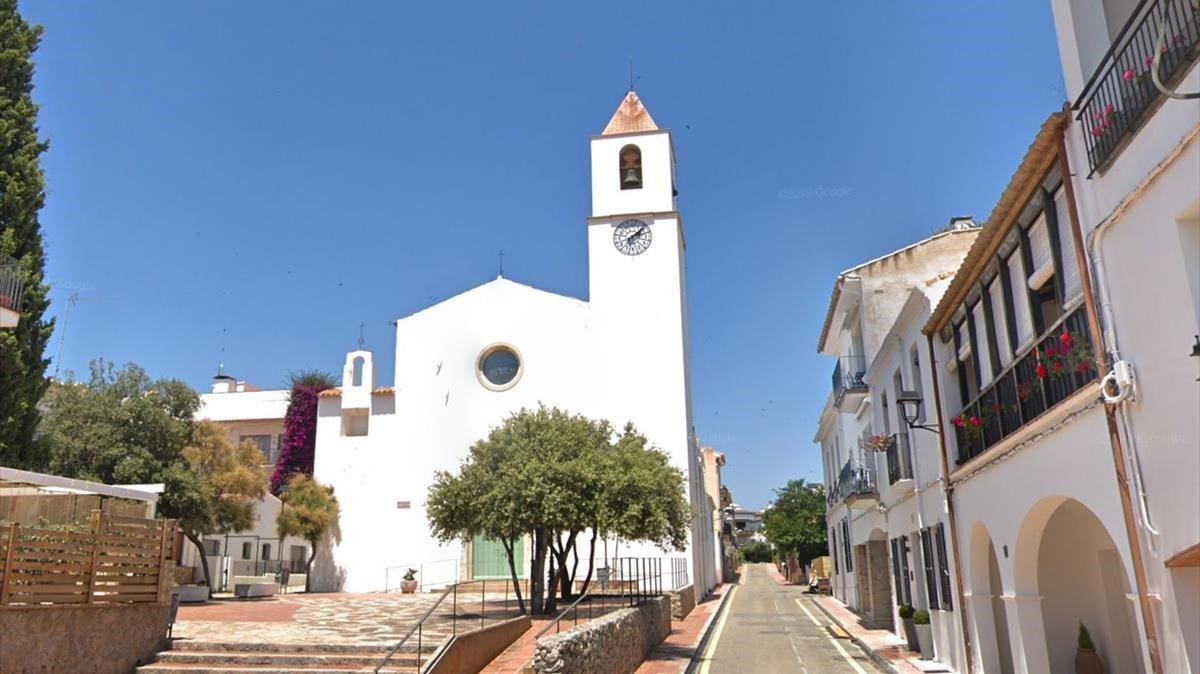 La iglesia de Sant Pere de Calella de Palafrugell.