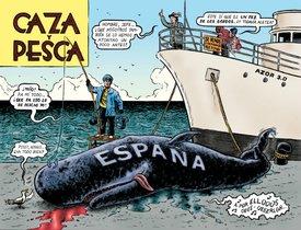 Ilustración de Miguel Brieva para el libro 'Diccionario del franquismo', de Manuel Vázquez Montalbán.