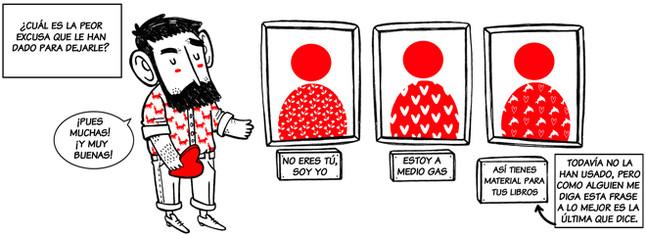Alfonso Casas responde a una entrevista en viñetas