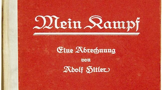 Imagen de la portada de la primera edición de 'Mein Kampf', subastada por Bloomsbury.