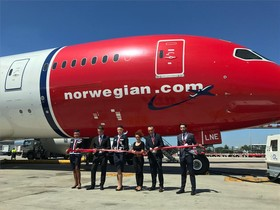 Inauguración del vuelo de Barcelona a Miami de Norwegian.