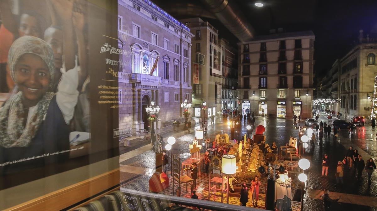 Pesebre de la plaza de Sant Jaume.