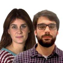 Jessica Albiach y Lucas Ferro
