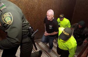 Jhon Jairo Velasquez, alias Popeye, sicario de Pablo Escobar, durante su detención.