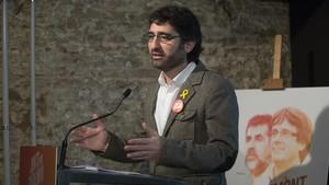Jordi Puigneró en un acto de JuntsxCat.