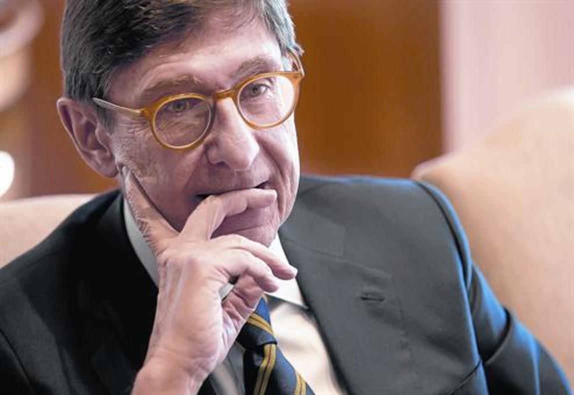 José Ignacio Goirigolzarri en su despacho en Bankia en Madrid.
