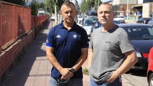 Benedicto Martino yJosé Luis Gómez, trabajadores que tuvieron contacto con amianto en la fábrica Honeywell.