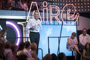 Juan y Medio, en el programa El amor está en el aire.