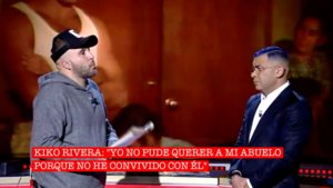 Kiko Rivera y Jorge Javier Vázquez en 'Cantora, la herencia envenenada'.