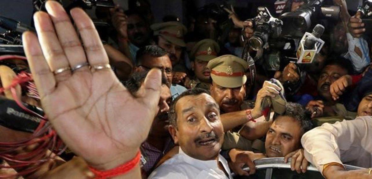 Kuldeep Singh Sengar, tras conocer la sentencia.