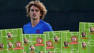 Los cinco escenarios tácticos en los que se puede mover Griezmann en el Barça.