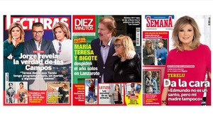 Las primeras páginas de las revistas del corazón que llegan esta semana a los quioscos con la familia Campos.