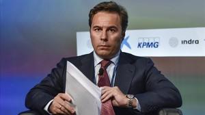 Dimas Gimeno, expresidente de El Corte Inglés, en las jornades del Cercle dEconomia.
