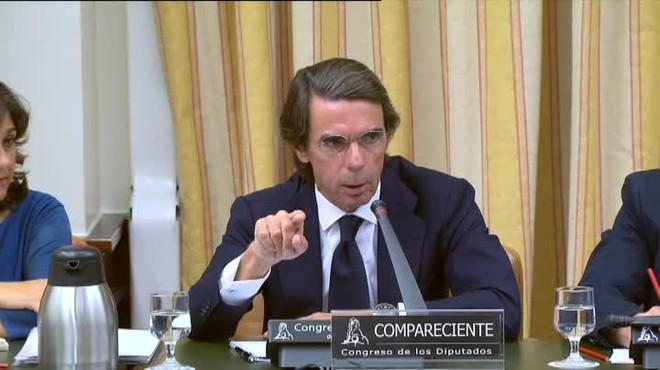 Així ha sigut la compareixença d'Aznar: tots els detalls