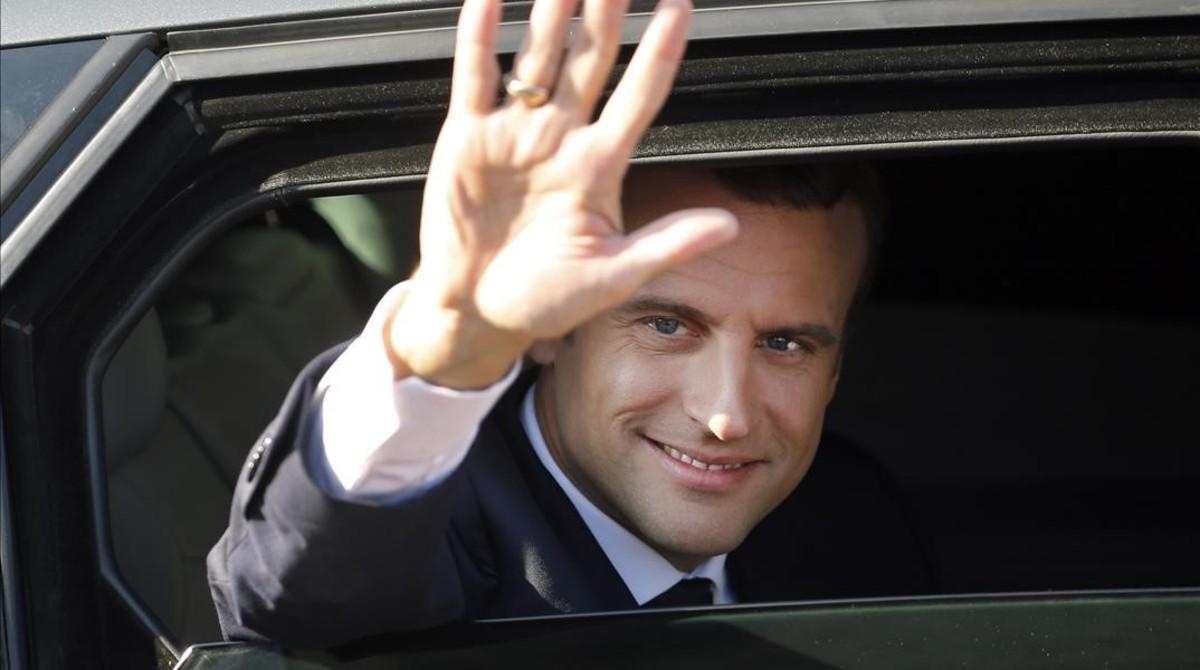 Macron, tras votar en Le Touquet.