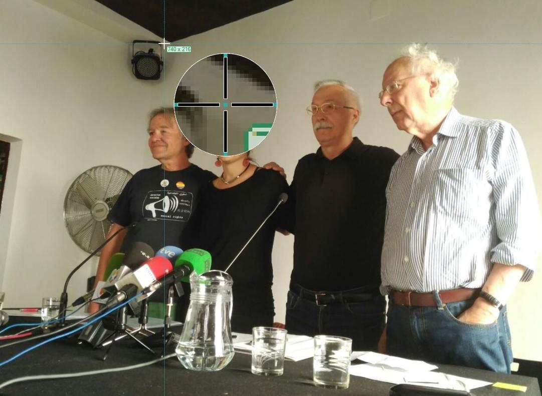 Rueda de prensa de la plataforma Madrileños por el Derecho a Decidir.