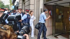 El jefe de los Mossos, Joan Carles Trapero, entra en la fiscalía el pasado 12 de septiembre.