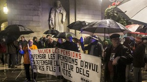 Manifestación de pensionistas en Barcelona.
