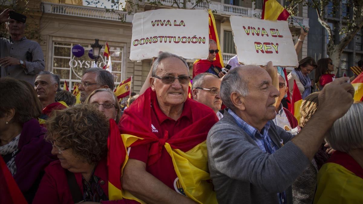 Manifestación de Societat Civil Catalana