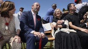 Manuela Carmena en las fiestas del patrón de Madrid que se celebran en la Pradera de San Isidro.