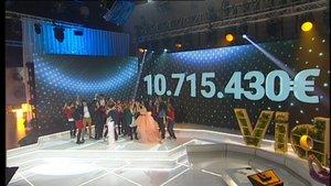 'La Marató' de TV-3 bat el seu rècord amb 10.715.430 euros
