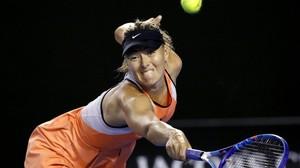 Maria Sharapova, durante un encuentro en Australia