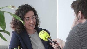 Marta Rovira, durante la entrevista con 'El suplement', de Catalunya Ràdio.