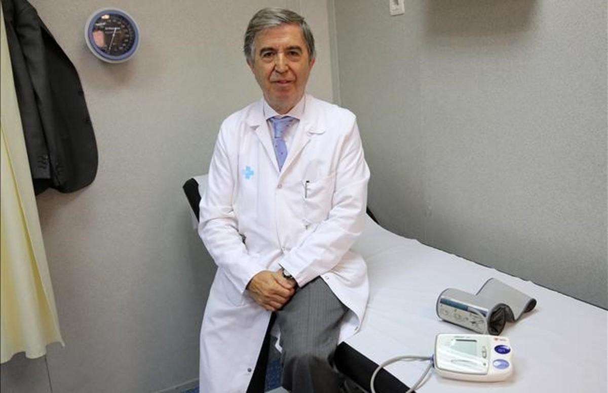 Miquel Vilardell, en su antiguo despacho del Hospital del Vall d'Hebron, la semana pasada.