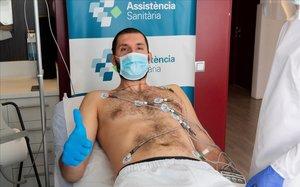 Mirotic, en un momento del reconocimiento médico en la Ciutat Esportiva