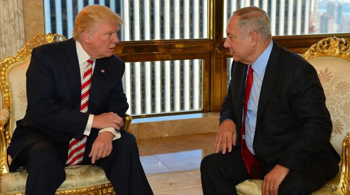 Netanyahu y Trump, en Nueva York, en septiembre.
