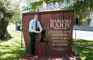 Entrevista exclusiva al presidente del Gobierno, Mariano Rajoy, en el último número de la revista Tiempo.