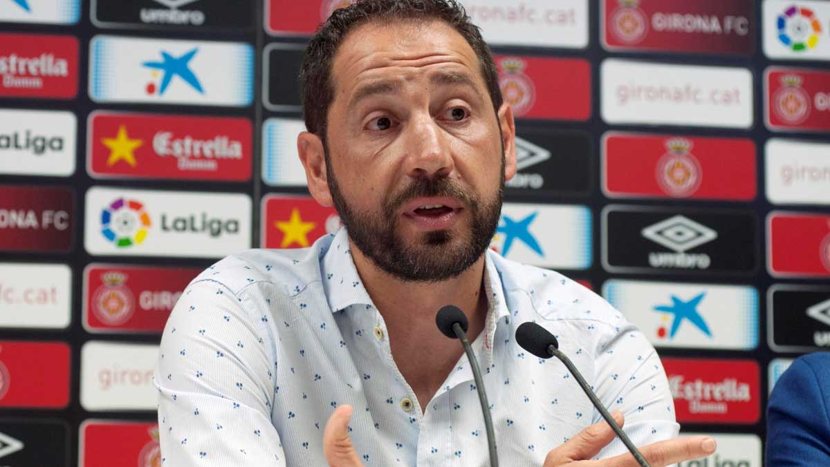 Pablo Machín se despide del Girona tras fichar por el Sevilla.