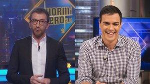 """Pedro Sánchez rechaza ir a 'El hormiguero' y Pablo Motos responde: """"Igual no había sitio para que aterrizase el Falcon"""""""