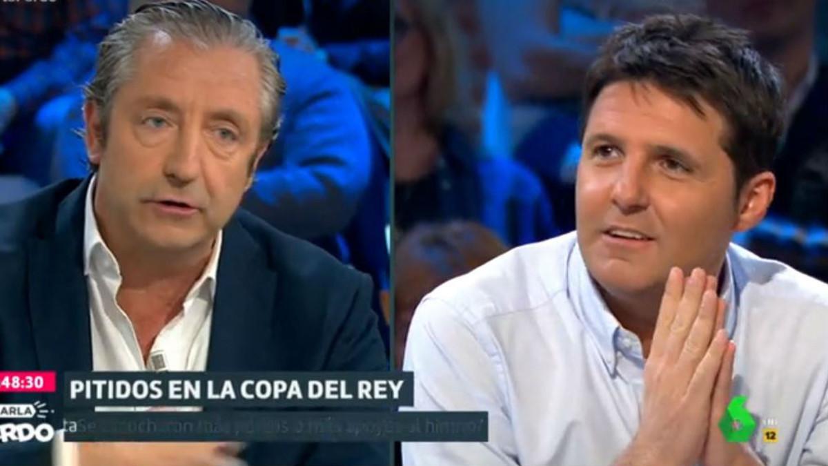 Josep Pedrerol y Jesús Cintora durante el programa Liarla pardo.