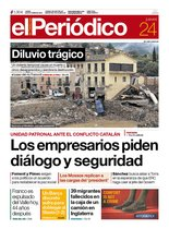 La portada de EL PERIÓDICO del 24 de octubre del 2019